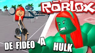 I TAKE HANDLES TO DEFEND THE WEAK!! 🏋 ROBLOX in Spanish - WEIGHT LIFTING SIMULATOR