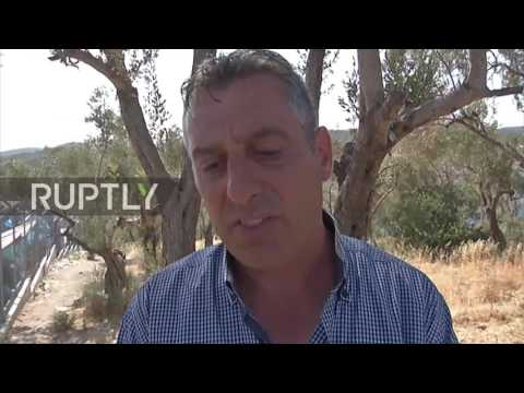Greece: Refugees protest in Lesbos as tensions with locals soar