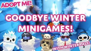 We play the Winter Minigames! ☃️ LAST CHANCE TO SPEND YOUR GINGERBREAD in Adopt Me! on Roblox