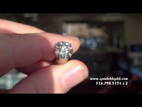 Shoot of a 3 1/2ct F SI2 Round Diamond