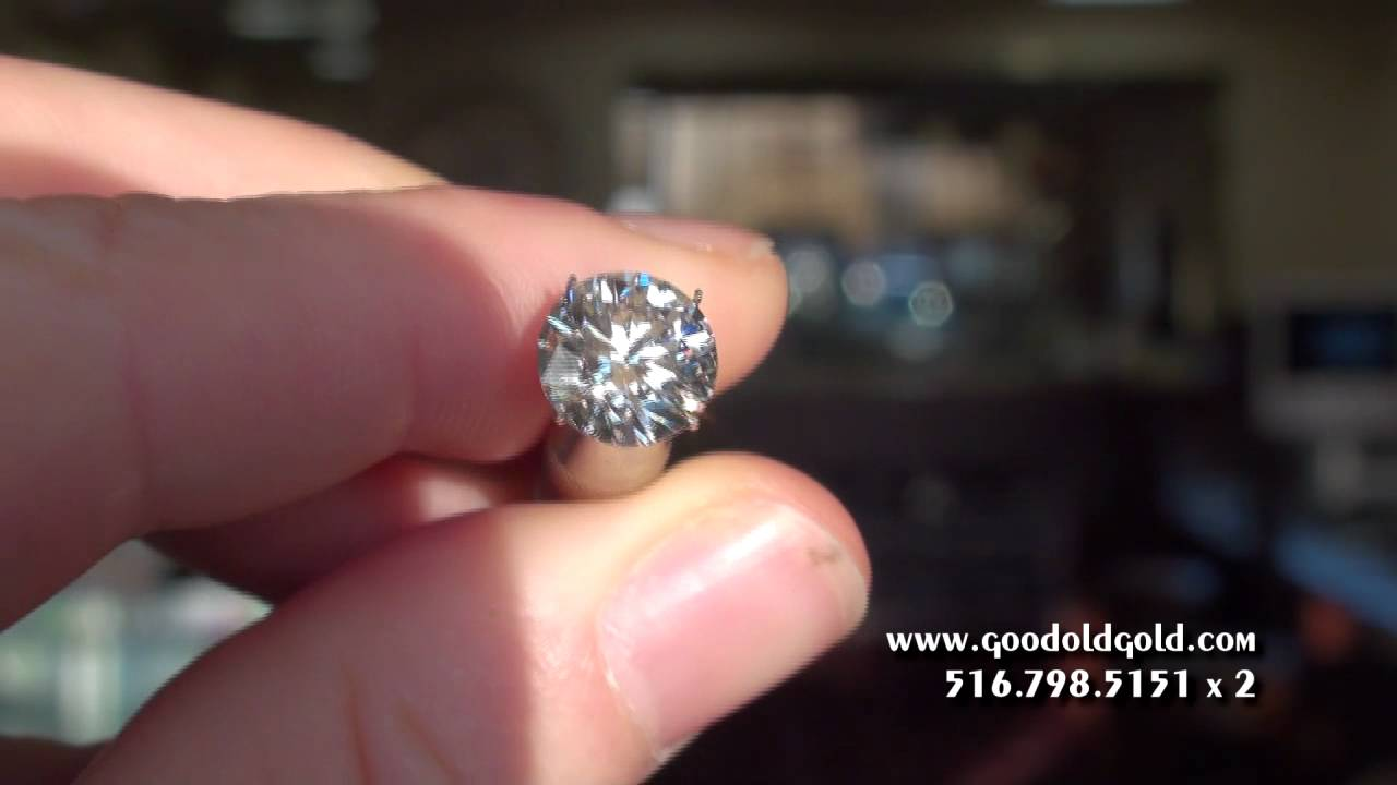 Shoot Of A 3 1 2ct F Si2 Round Diamond Youtube