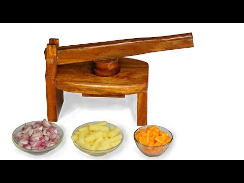 How to Make  Wooden Vegetable Cutter / Onion Slicer at Home