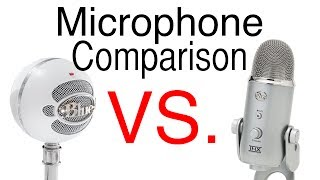 blue yeti vs blue snowball microphone review with voice comparison