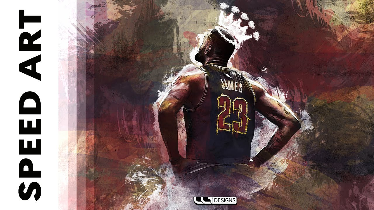 Sports Design | Lebron James | Speed Art (Photoshop) - YouTube
