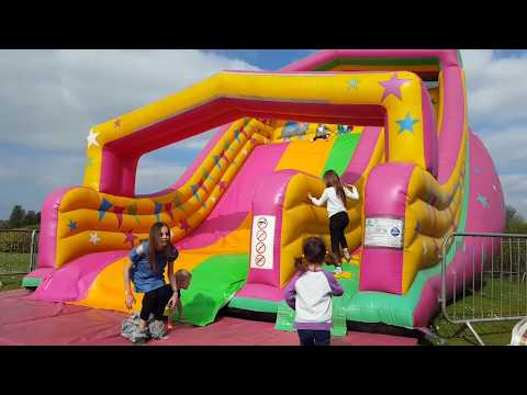 Thumbnail: HUGE Playground GIANT INFLATABLE SLIDES and Bounce Castle for Kids Play