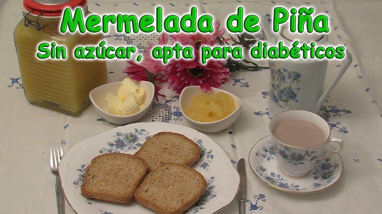 Mermelada de piña sin azúcar, apto para diabéticos - YouTube