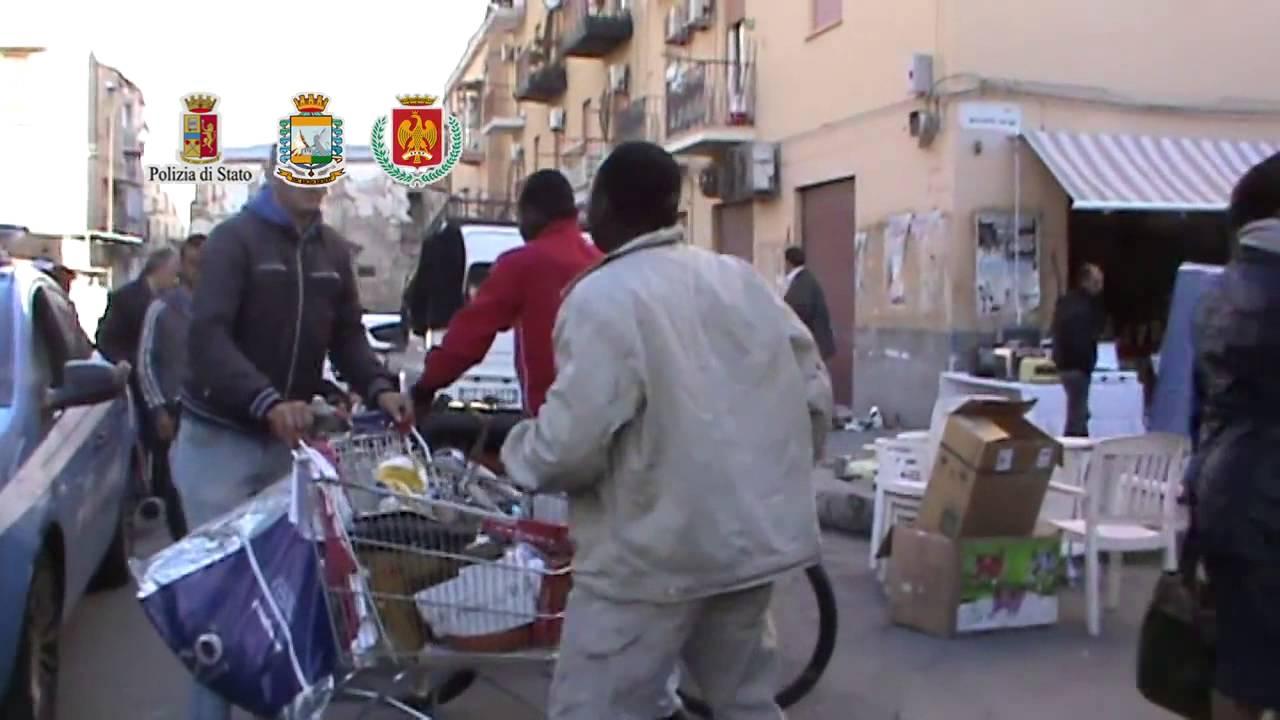 Palermo sgomberato mercatino dell 39 usato a ballar youtube for Mercatino dell usato caserta