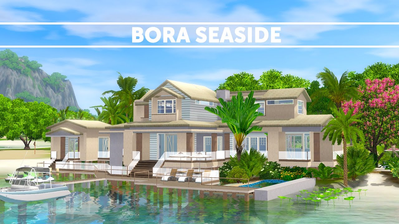 the sims 3   speed build house building   bora seaside