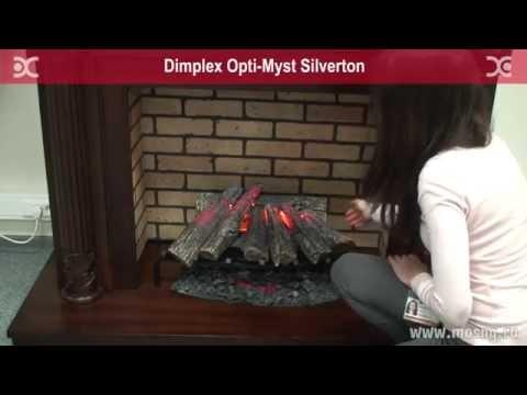 Silverton Электрический очаг-камин Dimplex Opti-myst. Видео 2