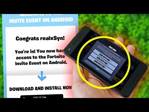 Fortnite ANDROID INVITE EVENT SIGN UP!! (Fortnite Mobile Android BETA Codes)