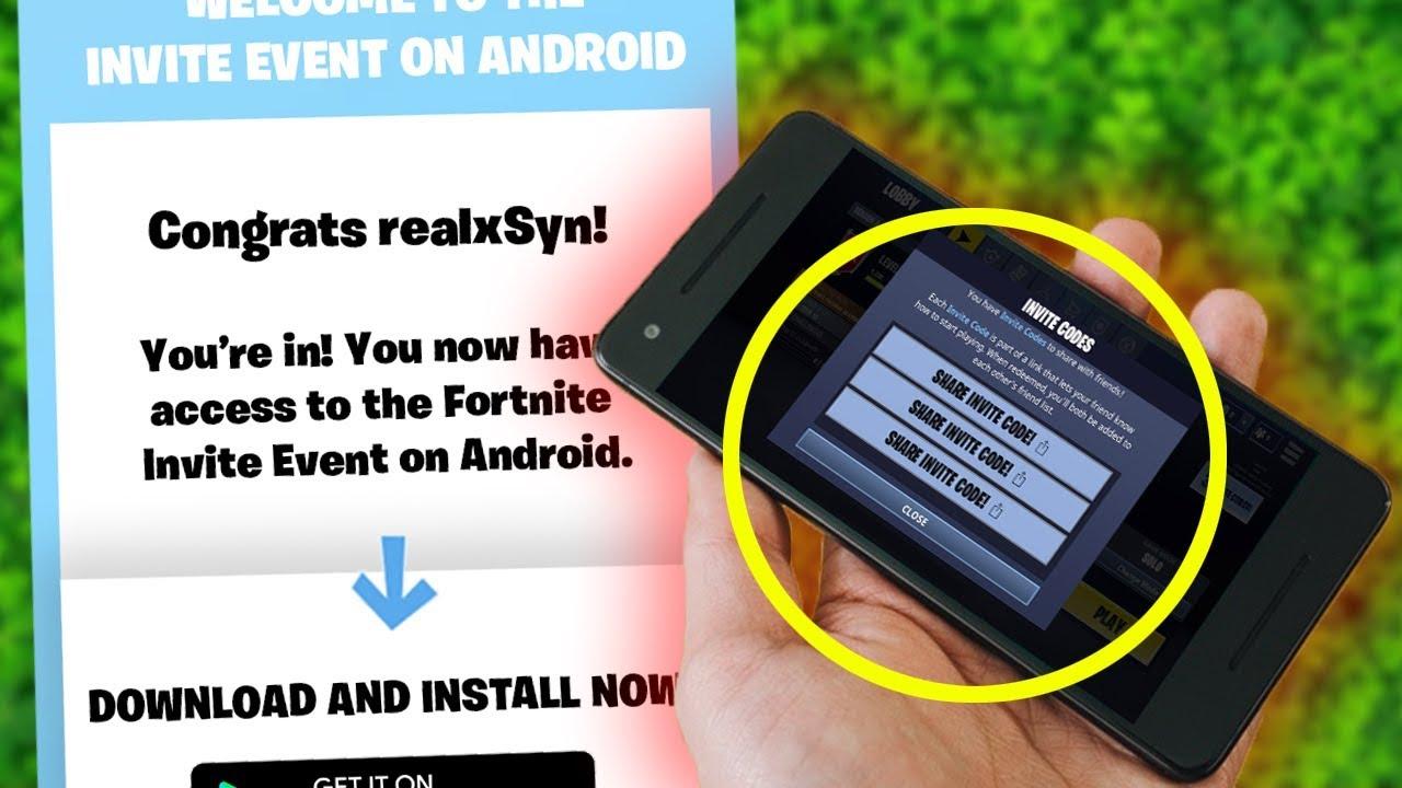 Fortnite ANDROID INVITE EVENT SIGN UP!! (Fortnite Mobile ...