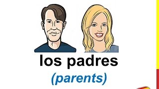 Spanish Lesson 26 - FAMILY MEMBERS in Spanish for kids Los miembros de la familia para niños