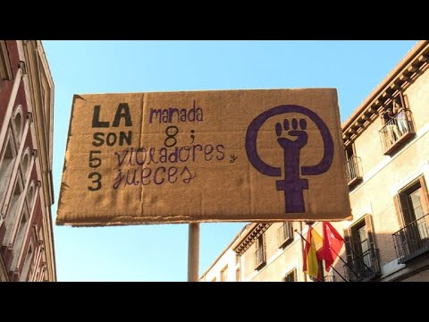 Thousands march in Madrid against release of sexual abuse gang