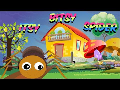 Itsy Bitsy Spider - Full Nursery Rhyme With Lyrics for Karaoke