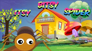 Itsy Bitsy Spider - Full Nursery Rhyme With Lyrics for Karaoke