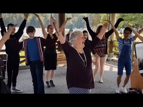 Grandma Who Wished Life Was a Musical Gets Surprise Flash Mob For Birthday