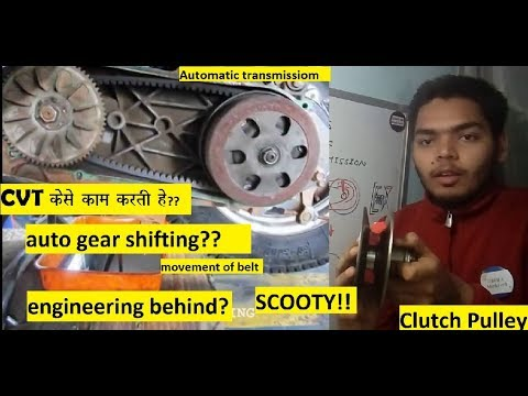 CVT explained in hindi || Activa Belt drive hindi || scooty clutch pulley working