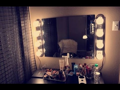 Most Simple Under USD 100 DIY vanity mirror with lights tutorial BEGINNER FRIENDLY - YouTube