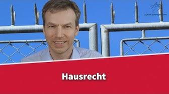 Hausrecht des Vermieters | Rechtsanwalt Dr. Achim Zimmermann