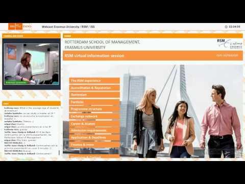 Estudia en Holanda - Webcast Rotterdam School of Management, Erasmus University (RSM)