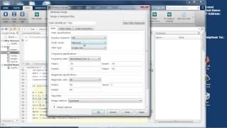 Проектирование цифровых фильтров в MATLAB