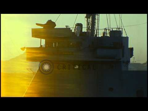 Ships at dock area of Cam Ranh Bay in Khanh Hoa,Vietnam. HD Stock Footage