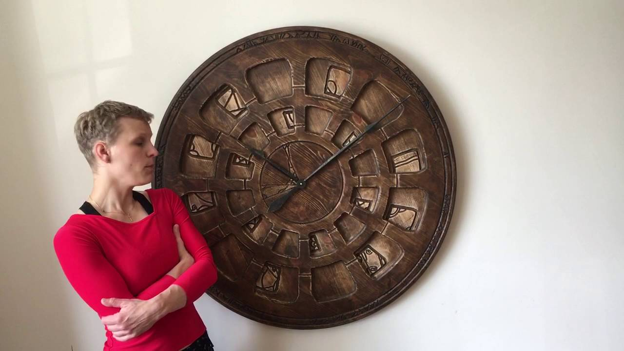 Unique Oversized Designer Wooden Wall Clock Youtube