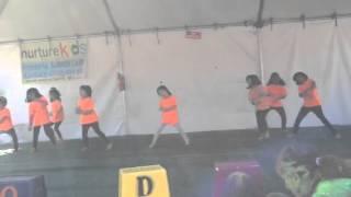 Chia aerodance performance - Holi 2014 - fremont temple