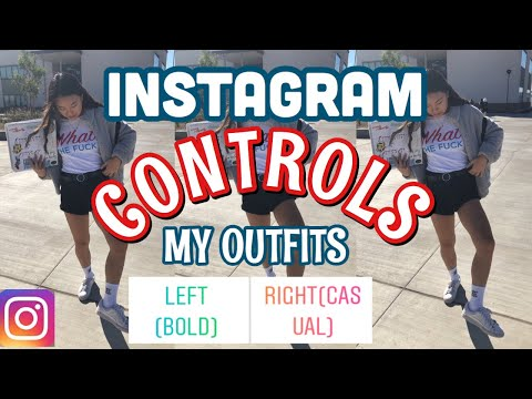 instagram controls my outfits for a week