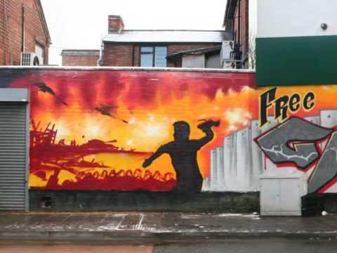 Aerosol Arabic - Free Gaza Graffiti Mural in Birmingham