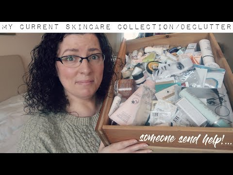 My Current Skincare Collection / Organisation / Declutter | Down to Earth Beauty | Fun | WavyKate