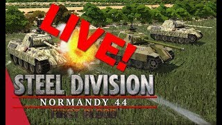 LIVE! Steel Division: Normandy 44 with VulcanHDGaming #contentdrought #birthdayweek