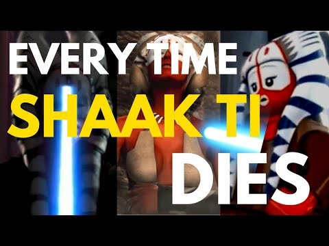 Every Time Shaak Ti Dies (Clone Wars, Force Unleashed, Lego)