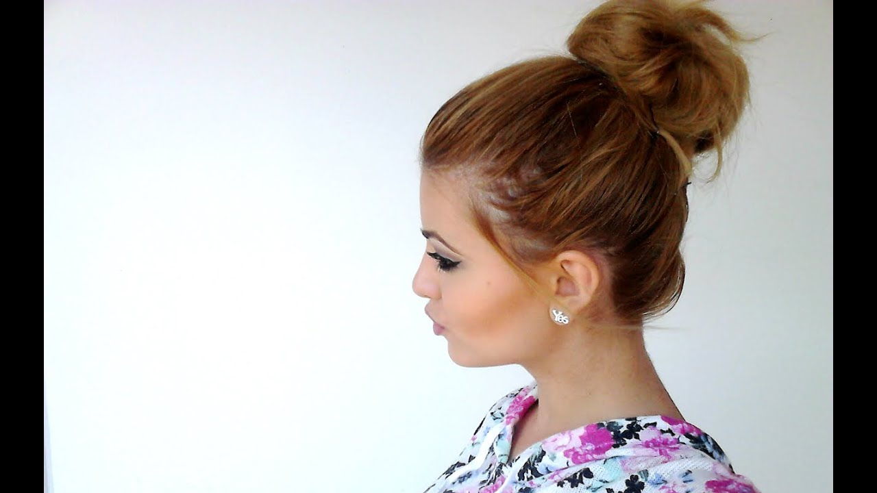 how to big messy bun for short hair - youtube