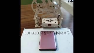 BUFFALO 외장하드 USB 포트불량 및 파일구조손상…
