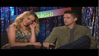 Topher Grace and Teresa Palmer Interview for TAKE ME HOME TONIGHT