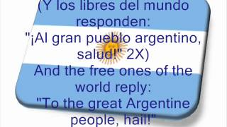 Argentine National Anthem with english lyrics