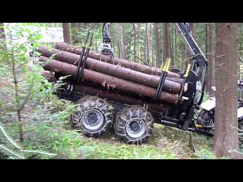 Kronos 140 4WDM forestry wagon & 8020 L crane