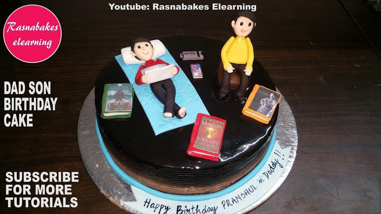 Happy Birthday Dad Son Gift Ideas Cake Design Decorating Tutorial Classes Video Youtube