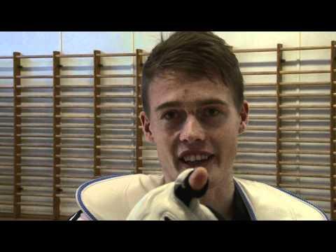 Juho Kostiainen kutsuu katsojat taekwondon SM-finaalin Olympiakamppailutapahtumaan 6.11.2011