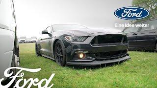 JP und sein Ford Mustang – ein Roadtrip zum Festival of Speed
