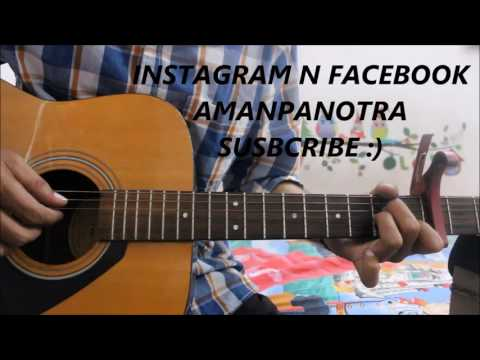 Dil De Diya Hai - Sad Romantic Song - Guitar Cover lesson easy version beginners