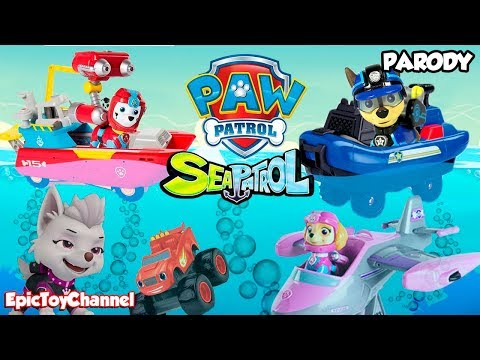 PAW PATROL Nickelodeon Mission Paw Rescue with Paw Patrol Sea Patrol & My Size Look Out Tower Toys