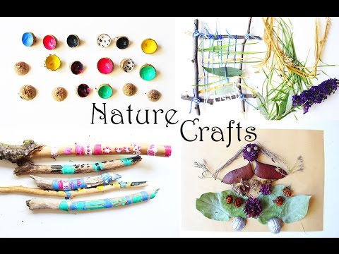 Nature Crafts For Kids Weaving Acorn Memory Painting Sticks