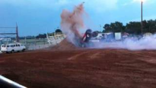Larry Quick in Ghost Rider does backflip at Monster Truck Show in Woodward OK 2010