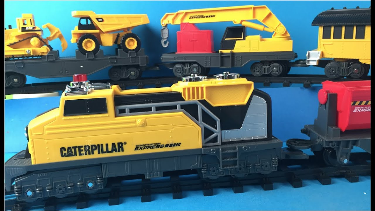 Cat Construction Express Train With Mighty Machines Toys