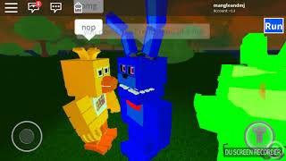 Bonnie gets rejected by Chica Chica is with Withered Bonnie Roblox