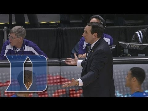 Duke's Coach K Throws Pen And Gets Technical Foul