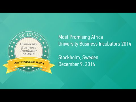 University Business Incubator Rankings 2014 - Most Promising Africa