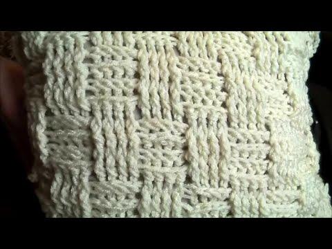 Crochet a cushion cover, basketweave